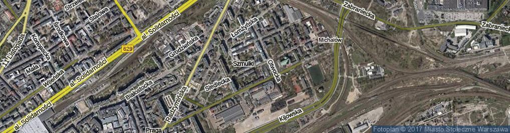 Zdjęcie satelitarne Siedlecka