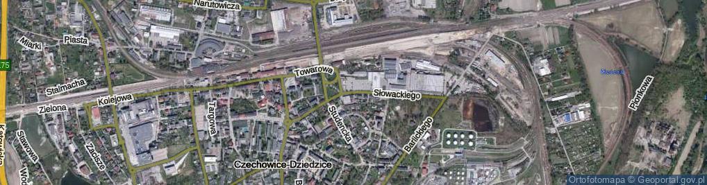 Zdjęcie satelitarne Słowackiego Juliusza