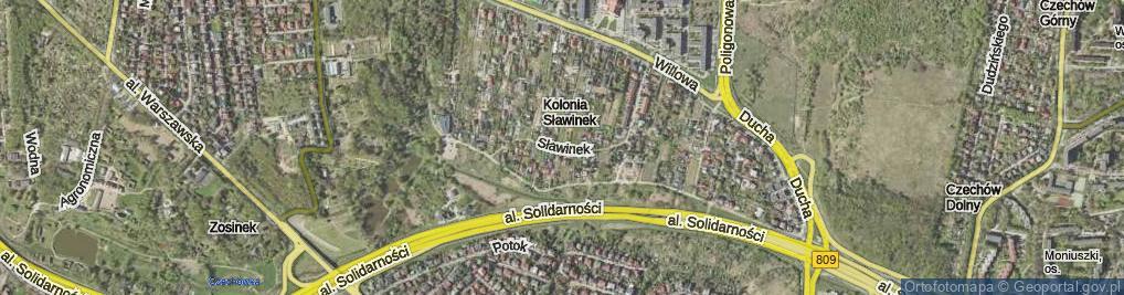 Zdjęcie satelitarne Sławinek ul.