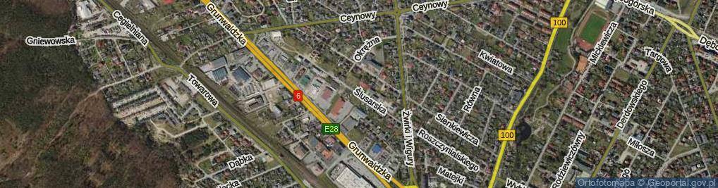 Zdjęcie satelitarne Ślusarska ul.