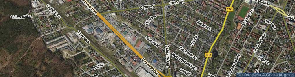 Zdjęcie satelitarne Ślusarska