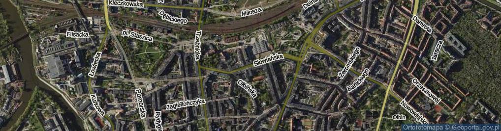 Zdjęcie satelitarne Słowiańska ul.
