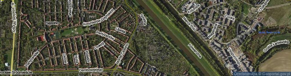 Zdjęcie satelitarne Smętna ul.