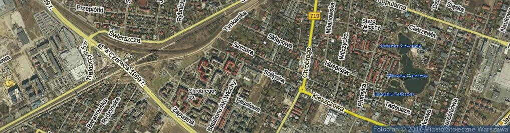 Zdjęcie satelitarne Solipska ul.