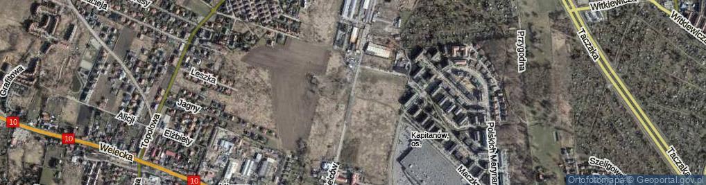 Zdjęcie satelitarne Spółdzielców