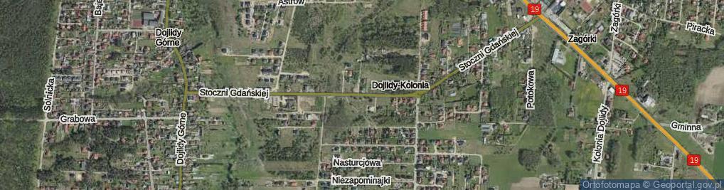 Zdjęcie satelitarne Stoczni Gdańskiej