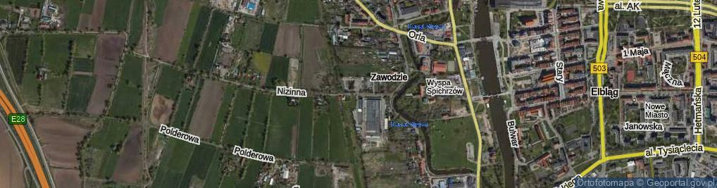 Zdjęcie satelitarne Strażnicza