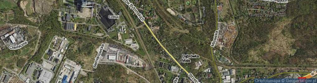 Zdjęcie satelitarne Strzelców Bytomskich