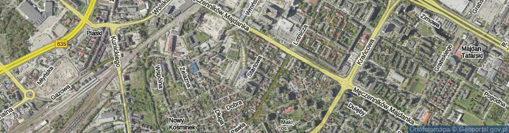 Zdjęcie satelitarne Startowa