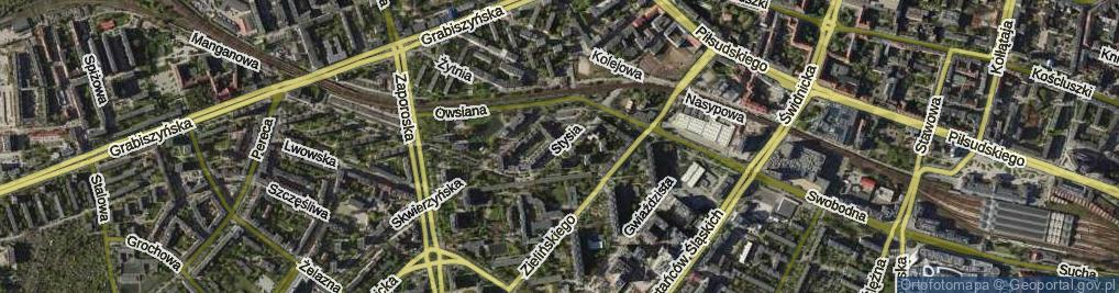 Zdjęcie satelitarne Stysia Wincentego ul.