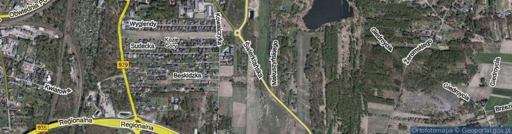 Zdjęcie satelitarne Świerklańska