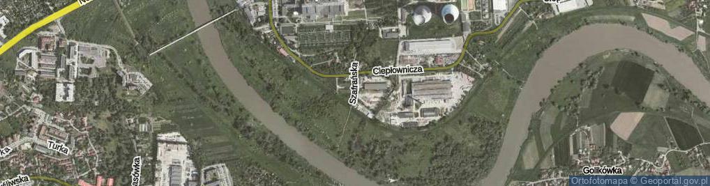 Zdjęcie satelitarne Szafrańska ul.
