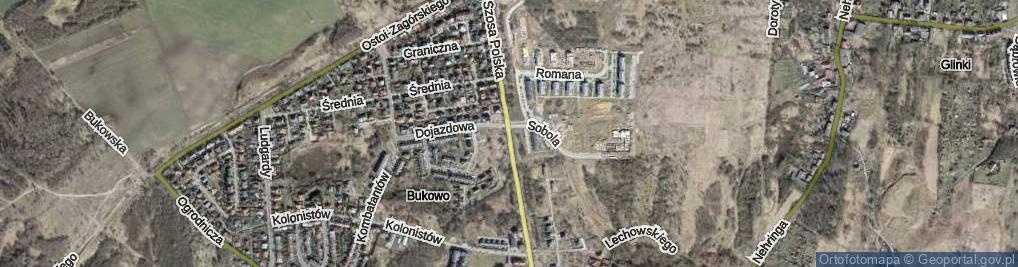 Zdjęcie satelitarne Szosa Polska