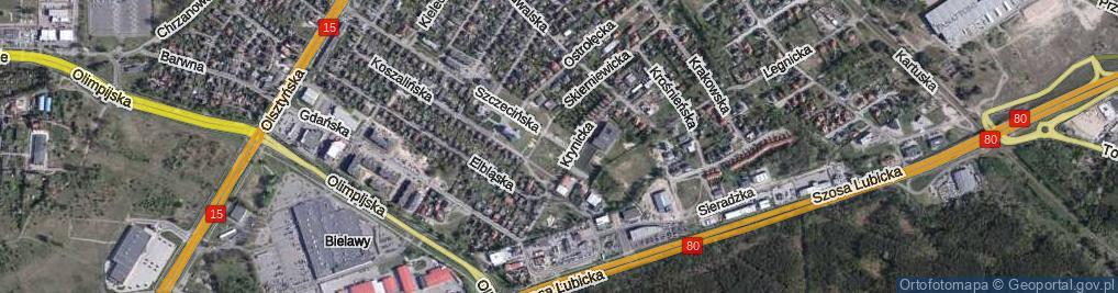 Zdjęcie satelitarne Szczecińska ul.