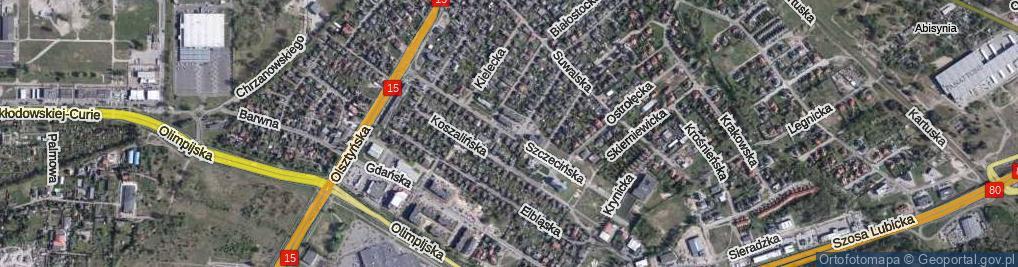 Zdjęcie satelitarne Szczecińska