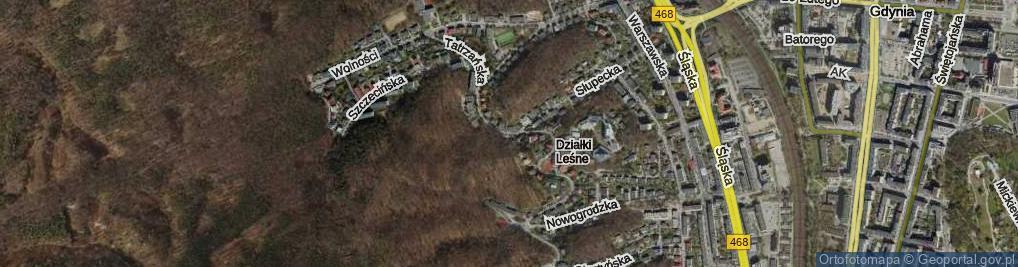 Zdjęcie satelitarne Tatrzańska
