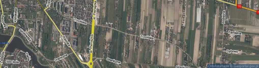 Zdjęcie satelitarne Trzcińska ul.