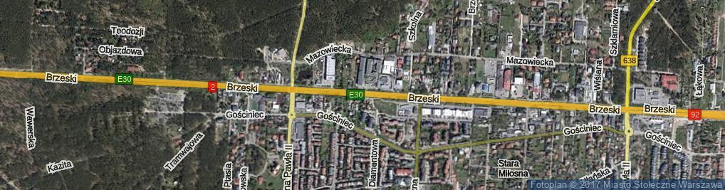 Zdjęcie satelitarne Trakt Brzeski