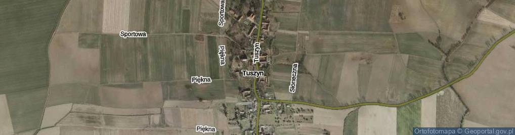 Zdjęcie satelitarne Tuszyn