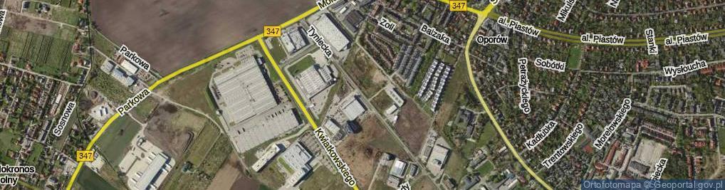 Zdjęcie satelitarne Tyniecka ul.