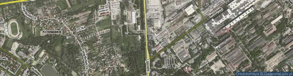Zdjęcie satelitarne Ujastek ul.