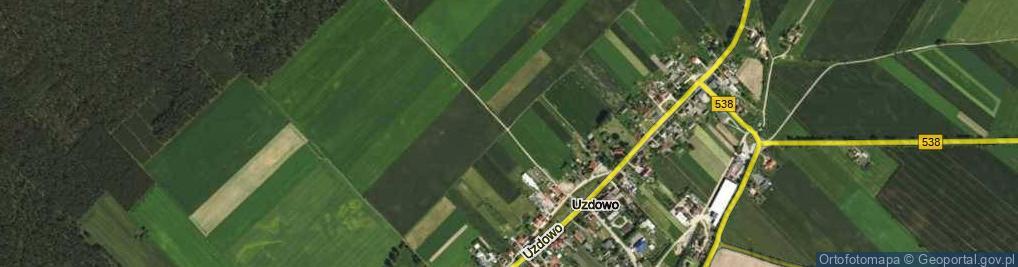 Zdjęcie satelitarne Uzdowo