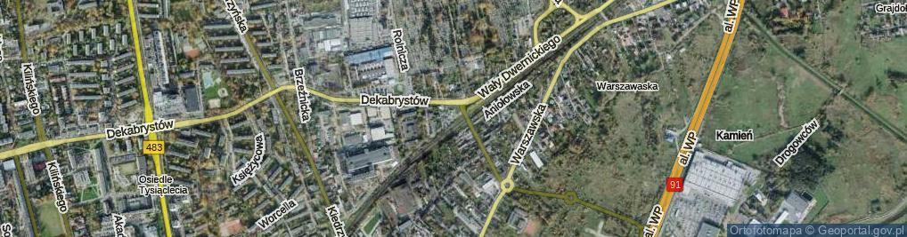 Zdjęcie satelitarne Wały Dwernickiego