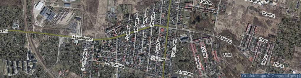 Zdjęcie satelitarne Weselna