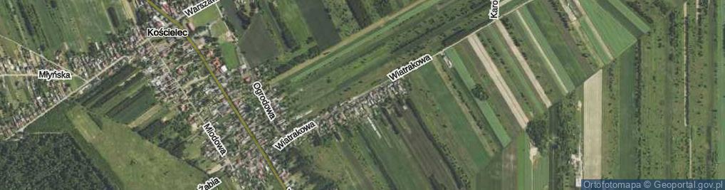 Zdjęcie satelitarne Wiatrakowa