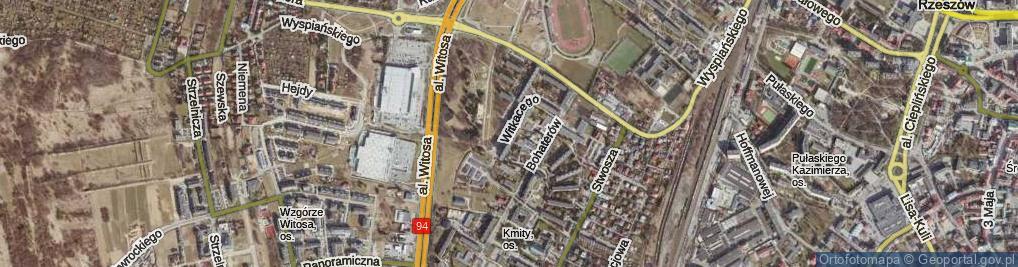 Zdjęcie satelitarne Witkacego Stanisława ul.