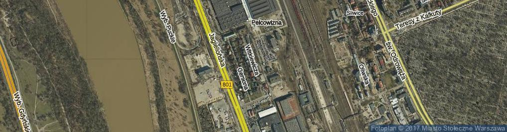 Zdjęcie satelitarne Witkiewicza Stanisława Ignacego ul.