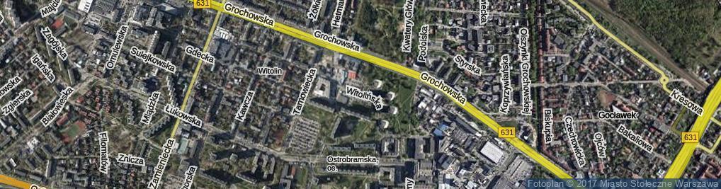 Zdjęcie satelitarne Witolińska