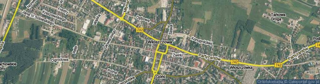 Zdjęcie satelitarne Włoszczowa
