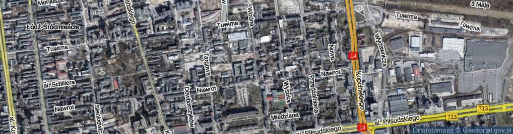 Zdjęcie satelitarne Wodna