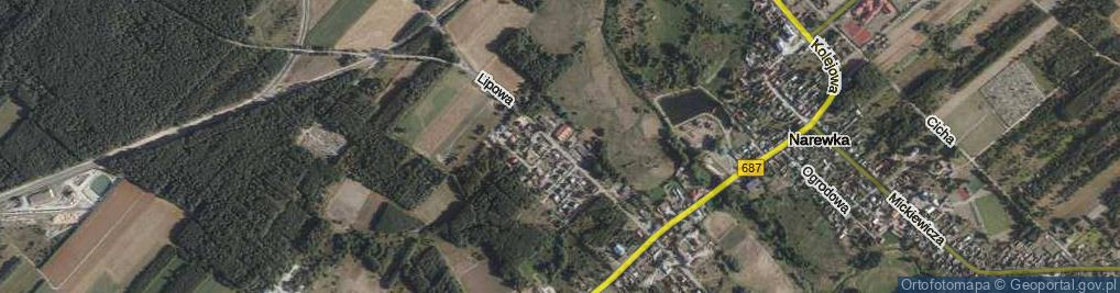 Zdjęcie satelitarne Wołkowyckiego Aleksandra ul.