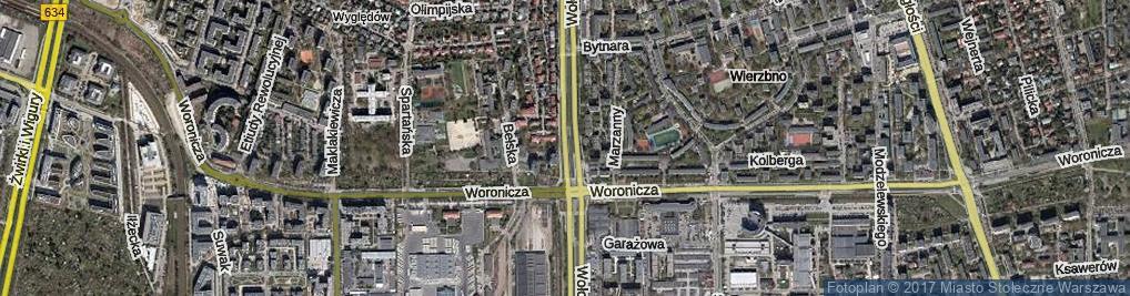 Zdjęcie satelitarne Wołoska ul.