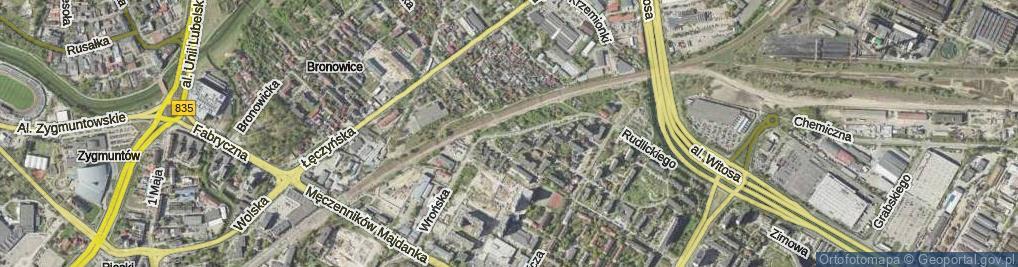 Zdjęcie satelitarne Wrońska ul.