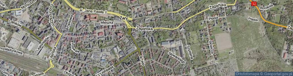 Zdjęcie satelitarne Zakopiańska
