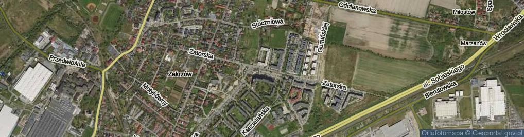 Zdjęcie satelitarne Zatorska