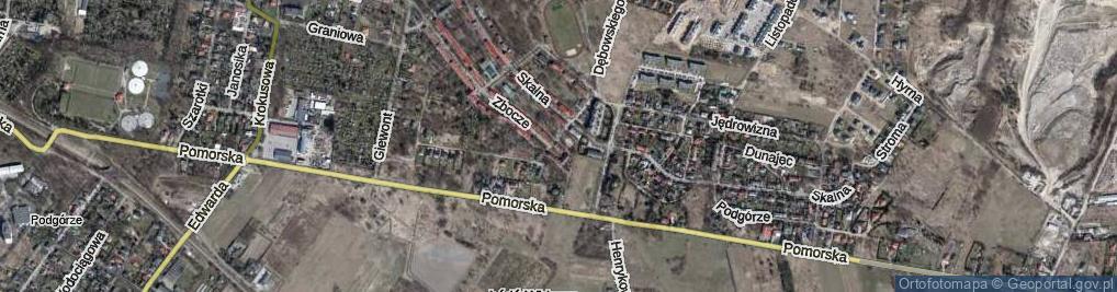 Zdjęcie satelitarne Zbocze ul.