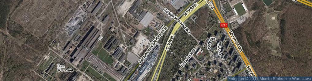 Zdjęcie satelitarne Zgrupowania AK Kampinos