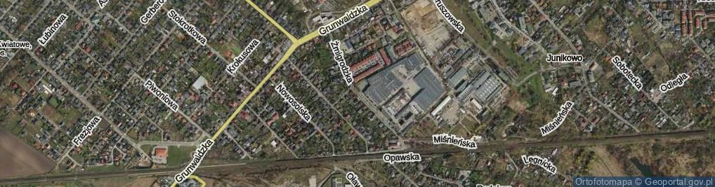 Zdjęcie satelitarne Żmigrodzka ul.