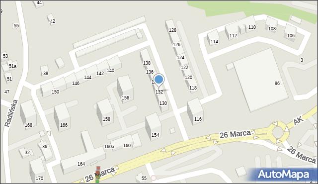 Wodzisław Śląski, 26 Marca, 132, mapa Wodzisławia Śląskiego