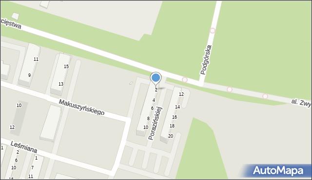 Legnica, Aleja Zwycięstwa, 2, mapa Legnicy