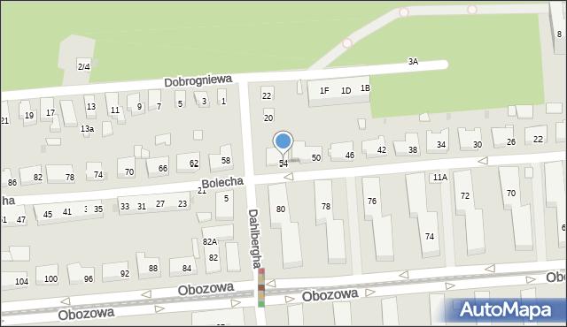 Warszawa, Bolecha, 54, mapa Warszawy