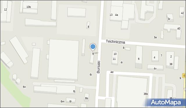 Lublin, Bursaki, 6, mapa Lublina