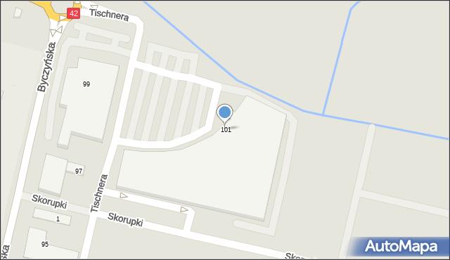 Kluczbork, Byczyńska, 101, mapa Kluczbork