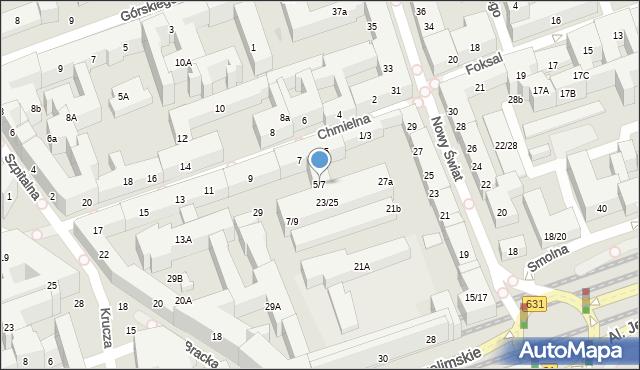 Warszawa, Chmielna, 5/7, mapa Warszawy