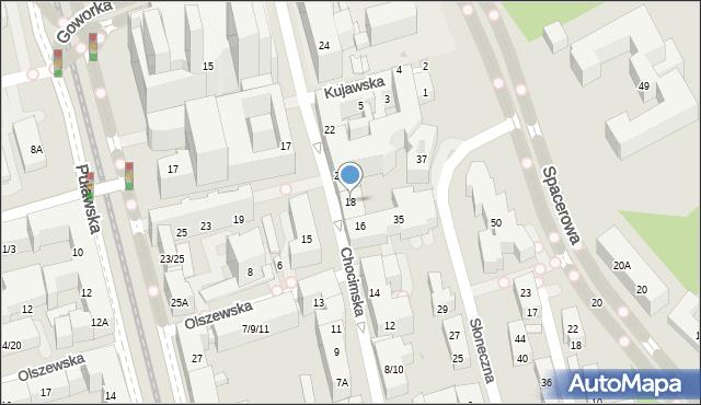 Warszawa, Chocimska, 18, mapa Warszawy