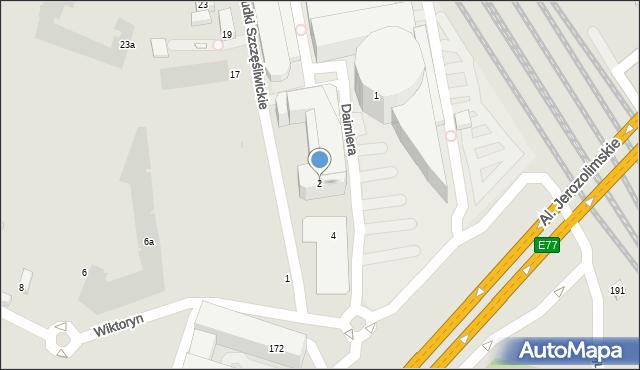 Warszawa, Daimlera Gottlieba, 2, mapa Warszawy